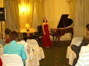 La concertista Andrea Buitrago Quiñónez.
