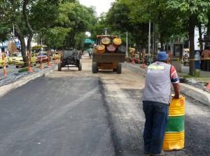 Desde el miércoles 8 de junio se empezó a instalar el pavimento de la calle 52 a la 56.