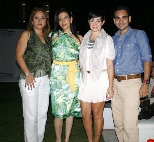 Jazmín Navarro,  Mercedes Reyes, Silvia Alfonso y Julián Díaz.