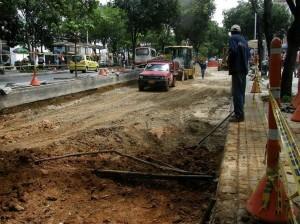 A pesar de las intensas lluvias, los trabajos no se han retrasado.