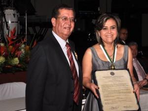 Condecoración a Martha Liliana Rincón Rodríguez.