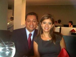 Luis Francisco Bohórquez Pedraza y Glenys Pedraza, su actual esposa.
