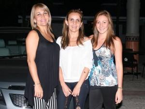 Fabiola Rodríguez, Orfelina Rodríguez y Daniela Espejo.