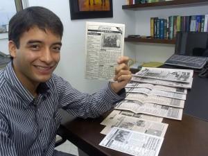 Fuad Chacón fue el fundador del periódico 'Crónica' que entre 2006 y 2008 circuló en el colegio San Pedro Claver.
