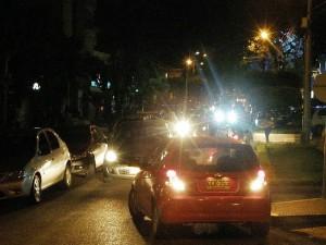 La congestión vehicular inicia generalmente desde las 6 p. m.