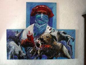 Jorge Mantilla Caballero nació en 1947 y se considera expresionista, con dejos surreales y retratista.