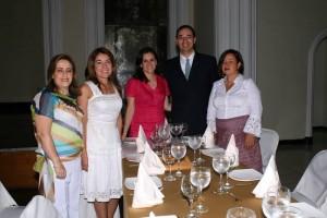 Claudia Bohórquez, Martha Gallo, Claudia Inés Monsalve, Sergio Mantilla y Constanza Gómez Martínez,