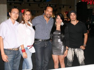 Cristian Villamizar, Ángela Suárez, Abraham Mayorga, Katerine Rivera y Álvaro Díaz.