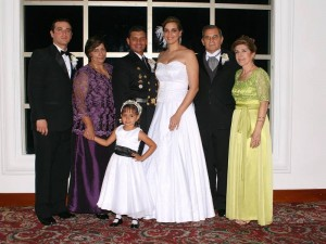 Augusto Pinilla, Georgina de Carvajal, Robinson Carvajal, Priscila Silvana Pinilla, Navarro Pinilla, Emilce de Herrera e Isabela Lozano.