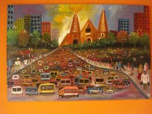 Esta es una de las pinturas de Andrés, hijo de Juan Carlos Parra Niño y María Teresa Lozano, quienes le apoyan sus talentos artísticos.