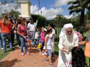 El Festival de Cometas sirvió para compartir entre familias.