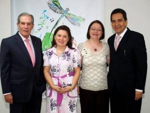 Alberto Montoya Puyana, Karen Vásquez, Janeth Lizarazo y Gilberto Ramírez Valbuena.
