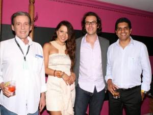 Eduardo Barberena, director de 'Cheyla una casa pa' Maita'; Valentina Rendón, Miguel Salazar, Carlos César Arbeláez, director de 'Los colores de la montaña'.