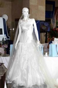 Vestido de novia diseñado por Claudia Giraldo exhibido en la cuarta versión de la 'Semana de la Boda'.