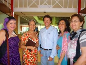 Blanca Cecilia Oróstegui, Edilma Martínez, Hernán Estupiñán, María Patricia Martínez y Consuelo Mantilla.