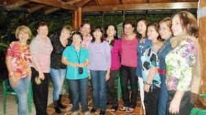 Susana Calvo, Myriam Pérez, Zoraida González, Tulia Gómez, Luz Stela León, Nelly Rey, Marta León, Álix Orduz y Clara Inés Acevedo.