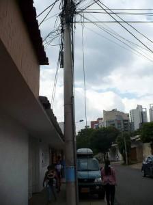 La foto la envía el Periodista del Barrio para denunciar los trabajos en el contador.