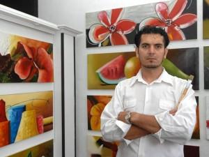 Gabriel dio sus primeros pasos como artista al lado de los maestros René Ortiz y Pacheco Suratá. (Jaime Del Río).