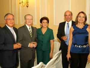 Leonidas Flórez, Eduardo Rueda, Teresita de Rueda, Eudoro Acevedo y  Martha de Acevedo.