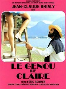 Le Genou de Claire (La rodilla de Clara) Director: Érick Rohmer.