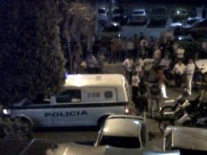 Fue necesaria la presencia de la Policía para controlar a los borrachos.