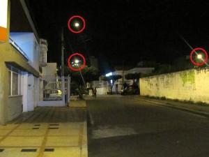 Las luminarias sí funcionan en la carrera 30 con calle 40, barrio Mejoras Públicas.