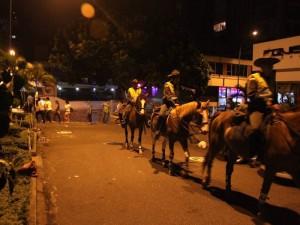 La Policía de Carabineros custodió la zona en estas noches.