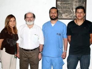 Clara Inés Martínez Silva, Mario Gómez Díaz, Cristian Mauricio Rodríguez y Jeison Pérez.