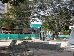 Obras que se adelantan en el parque Santander.