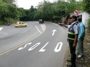 Así se ve ahora el cruce a La Floresta, en la carretera antigua. (Javier Gutiérrez).