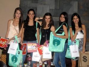 Las modelos Alejandra Díaz, Daniela López, Catalina Barrera, María Camila Vesga y Tatiana Bautista.