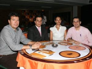 Javier Sandoval, Carlos Acosta, Jenny Gamboa y Javier Ferreira.