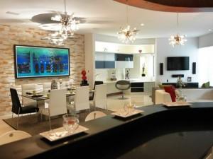 El comedor y la cocina tendrán espacios compartidos.