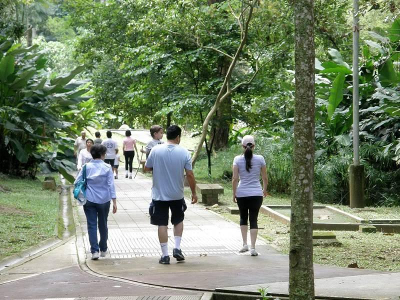 Así lució esta semana en la mañana el parque La Flora. (Javier Rodríguez).
