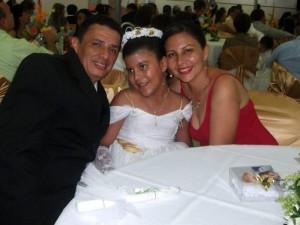 Edison Mojica Ojeda, Angélica Mojica Rodríguez y América Rodríguez.
