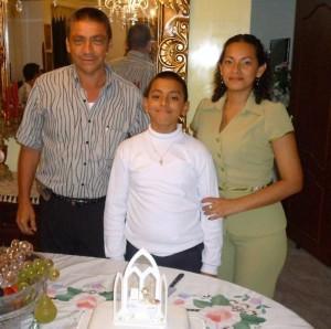 Federico Ramírez, Federico Andrés Ramírez Abril y Martha Abril.