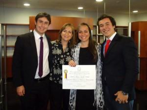 Juan Sebastián Bargans, Carmen Cecilia Rueda Pinilla, Angélica María Aguilar Rueda y Carlos Gerardo Aguilar Rueda.