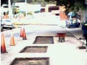 Estas son las obras que se adelantan en el pavimento de Conucos.