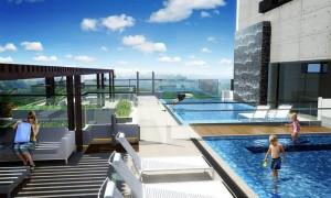 Tendrá espacios de diversión como una piscina en el último piso.