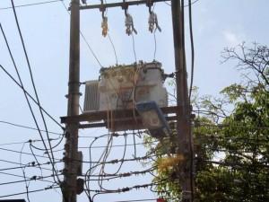 Este fue el transformador que ocasionó la falla en el servicio de energía en la zona.