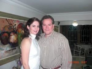 Luis Fernando Cote Peña y su esposa Erika Ottens.