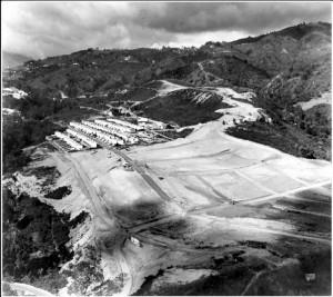 Hace sesenta años, así lucía el barrio Terrazas (al fondo) y el lote contiguo que hoy corresponde a la urbanización La Floresta.