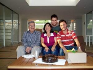 Álvaro Galvis Arenas, Ángela Sierra Vecino, Diana Milena Hernández y Oscar Galvis Sierra.