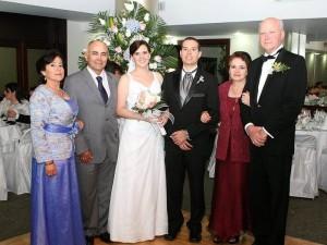 Rosa Emma Súa, Luis Alberto González, María José Ordoñez Puentes, Leonardo González, Adriana Puentes y José Luis Ordoñez.
