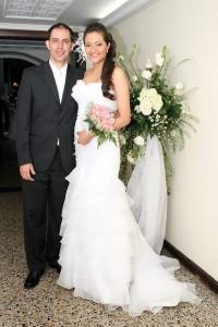 Roxana Balaguera y Salvador Vásquez celebraron su matrimonio en el Club del Comercio.