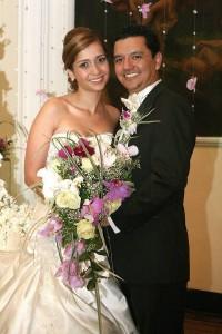 Libia Clemencia y Óscar Sánchez festejaron su unión matrimonial.