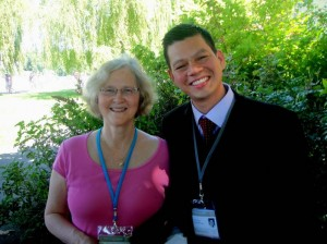 Con Elizabeth Blackburn Premio Nobel de Medicina 2009.