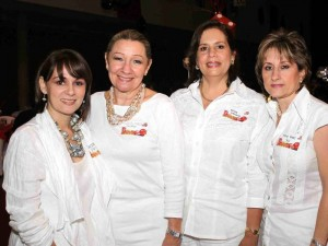 Marcela Pinilla, María Mercedes de Reyes, Silvia Liévano y María Teresa Sus.