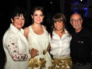 Gloria Amaya, Silvia Alfonzo, Ana Milena Alfonzo y Her-man Alfonzo.