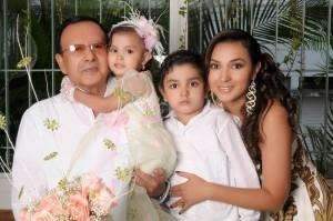 Clímaco Otero Reyes, María Anghelina Otero Landazábal, Clímaco Alexis Otero y Marshisoleyth Landazábal Pedraza.